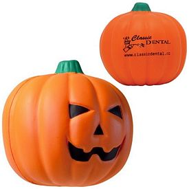 Promotional Jack O' Lantern Squeezie Stress Reliever