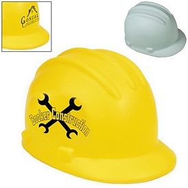 Promotional Construction Hard Hat Squeezie Stress Reliever