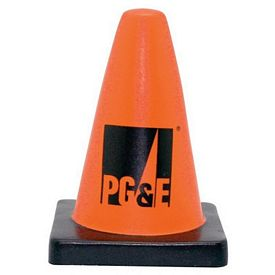 Customized Construction Cone Squeezie Stress Reliever