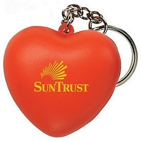 Promotional Heart Squeezie Keyring
