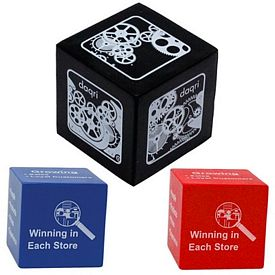Customized Square Cube Squeezie Stress Reliever