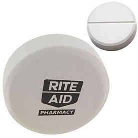Customized White Pill Squeezie Stress Reliever