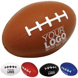 Customized 3.5-inch Football Squeezie Stress Relievers