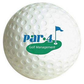 Promotional Golf Ball Squeezie Stress Reliever