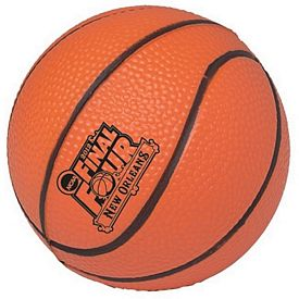 Customized 4.5-inch Basketball Squeezie Stress Reliever