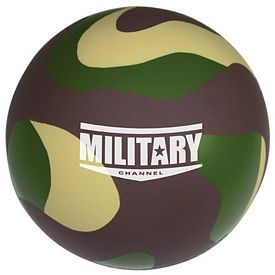 Customized Camo Ball Squeezie Stress Reliever