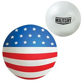 Promotional American Flag Squeezie Stress Reliever Ball