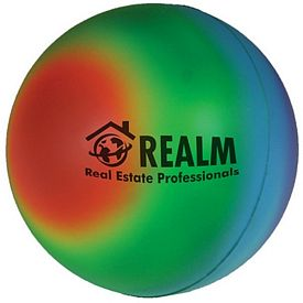 Promotional Rainbow Ball Squeezie Stress Reliever