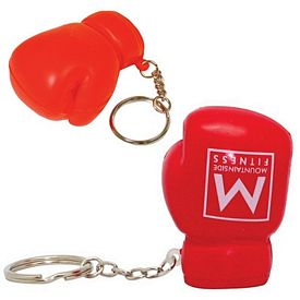 Promotional Boxing Glove Squeezie Keyring