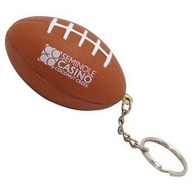 Promotional Football Squeezie Keyring