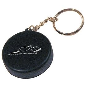 Promotional Hockey Puck Squeezie Keyring
