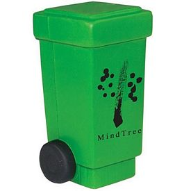 Promotional Trash Can Recycling Bin Squeezie Stress Reliever
