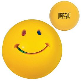 Promotional Light up Smiley Face Squeezie Stress Reliever