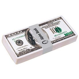 Customized $100 Dollar Bill Stack Squeezie Stress Reliever
