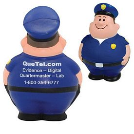 Promotional Policeman Bert Squeezie Stress Reliever