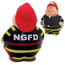 Promotional Fireman Bert Squeezie Stress Reliever