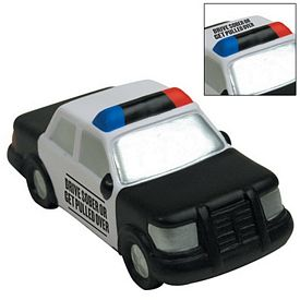 Customized Police Car Squeezie Stress Reliever