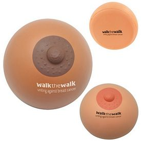 Promotional Breast Squeezie Stress Reliever - Brown or Flesh