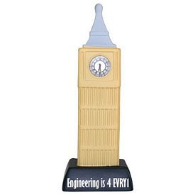 Promotional Clock Tower Squeezie Stress Reliever