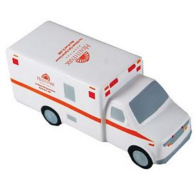 Customized Ambulance Squeezie Stress Reliever