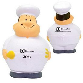 Customized Chef Bert Squeezie Stress Reliever