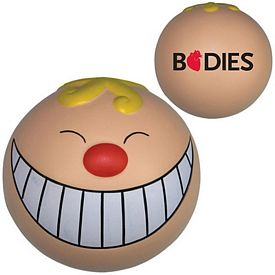 Promotional Smiley Funny Face Squeezie Stress Reliever