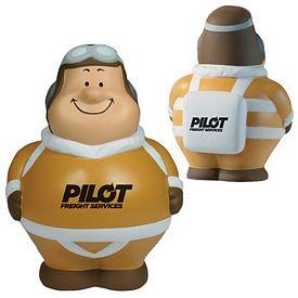 Promotional Vintage Pilot Bert Squeezie Stress Reliever