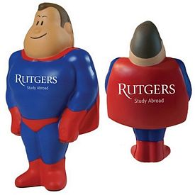 Customized Super Hero Squeezie Stress Reliever