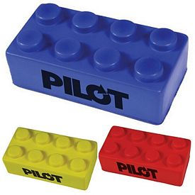 Customized Building Block Squeezie Stress Reliever