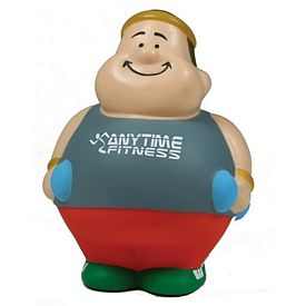 Customized Fitness Man Bert Squeezie Stress Reliever