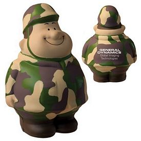 Customized Army Bert Squeezie Stress Reliever