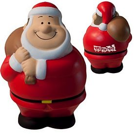 Promotional Santa Bert Squeezie Stress Reliever