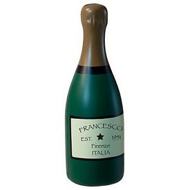 Promotional Champagne Bottle Squeezie Stress Reliever