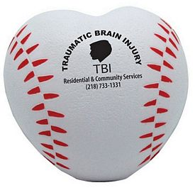 Customized Heart Shaped Baseball Squeezie