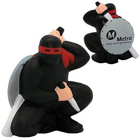 Promotional Ninja Warrior Squeezie Stress Reliever