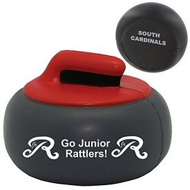 Customized Curling Rock Shuffleboard Squeezie Stress Reliever