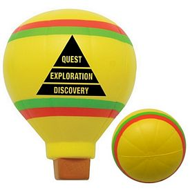 Customized Hot Air Balloon Squeezie Stress Reliever
