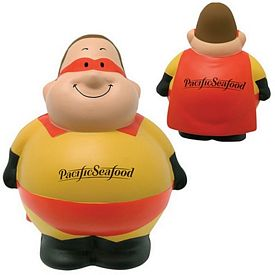 Promotional Super Bert Squeezie Stress Reliever