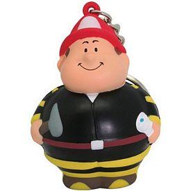 Customized Fireman Bert Squeezie Keychain