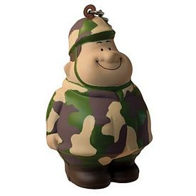 Promotional Army Bert Squeezie Keychain
