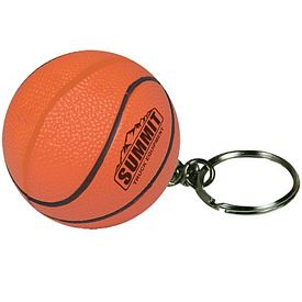 Customized Basketball Keyring Squeezie Stress Reliever