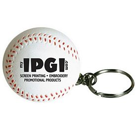 Promotional Baseball Keyring Squeezie Stress Reliever
