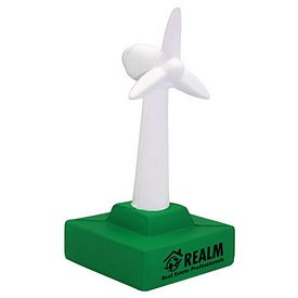 Promotional Wind Turbine Squeezie Stress Reliever