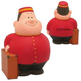 Customized Bellhop Bert Squeezie Stress Reliever