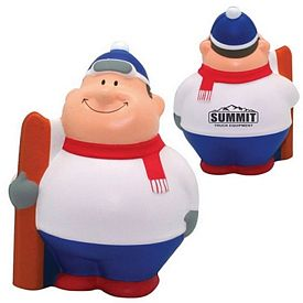 Promotional Skier Bert Squeezie Stress Reliever