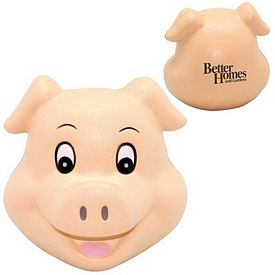Customized Cute Pig Head Squeezie Stress Reliever