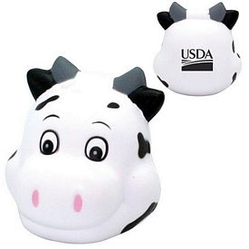 Promotional Cute Cow Head Squeezie Stress Reliever