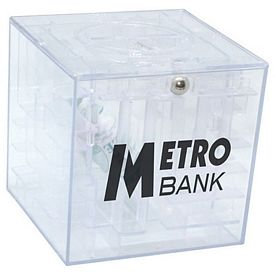 Promotional Money Maze Cube Coin Bank