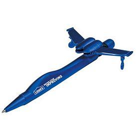 Promotional Metallic Blue Jet Plane Novelty Pen