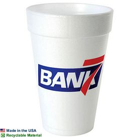 Customized 16 Oz Foam Cup